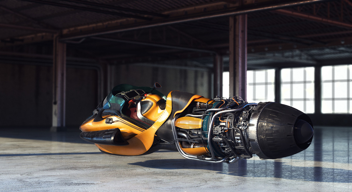 Racing Hoverbike - A ROAD TRIP IN 2116 Contest