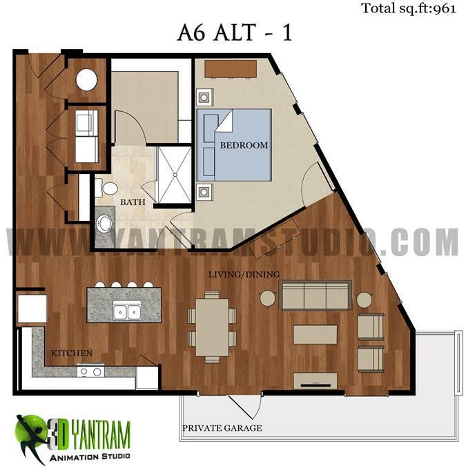 2d 1LBK Floor Plan