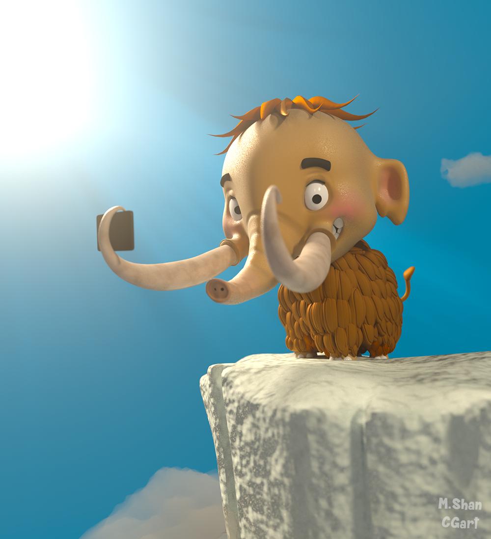 Baby Mammoth selfie