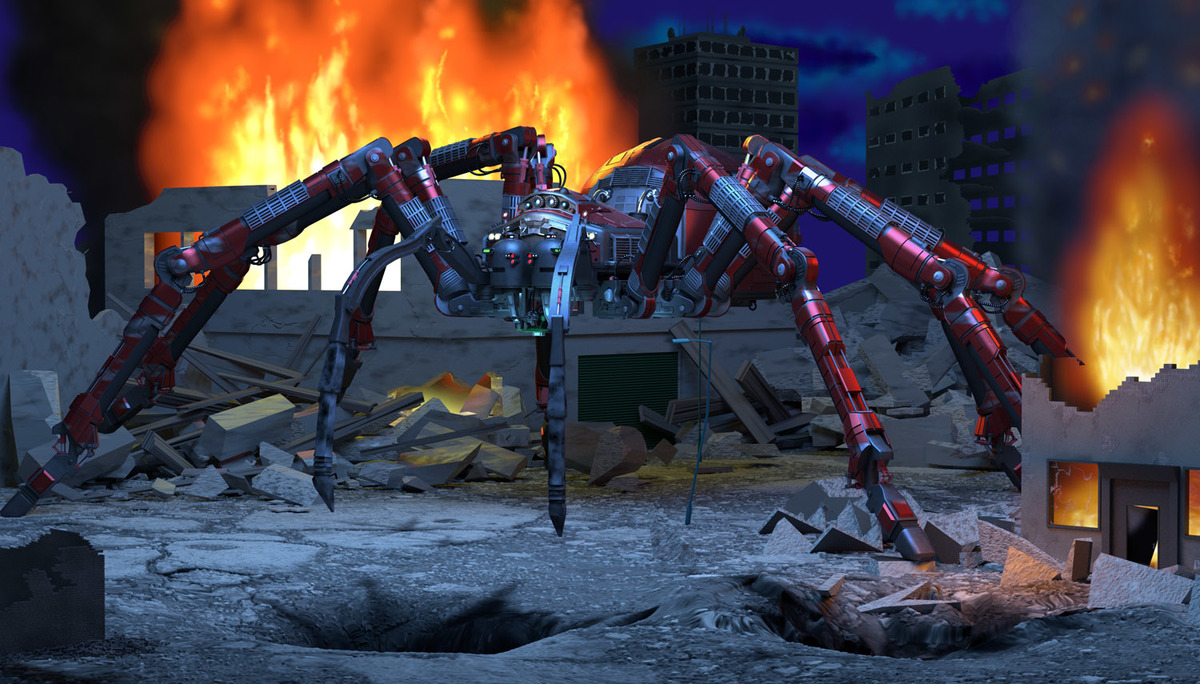 """Tarantula"" Class Heavy Combat Spider"