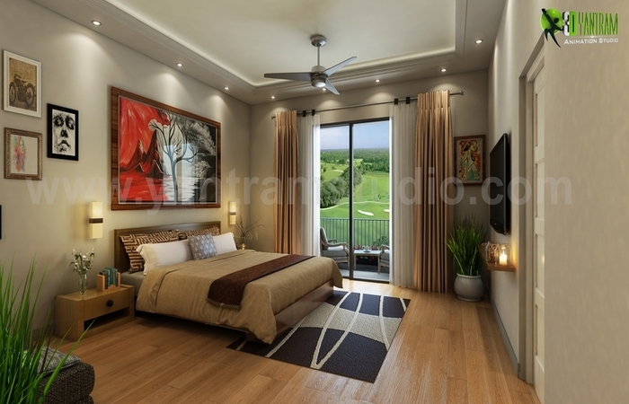 A Good Ideas for Bedroom with Gold Back Ground USA