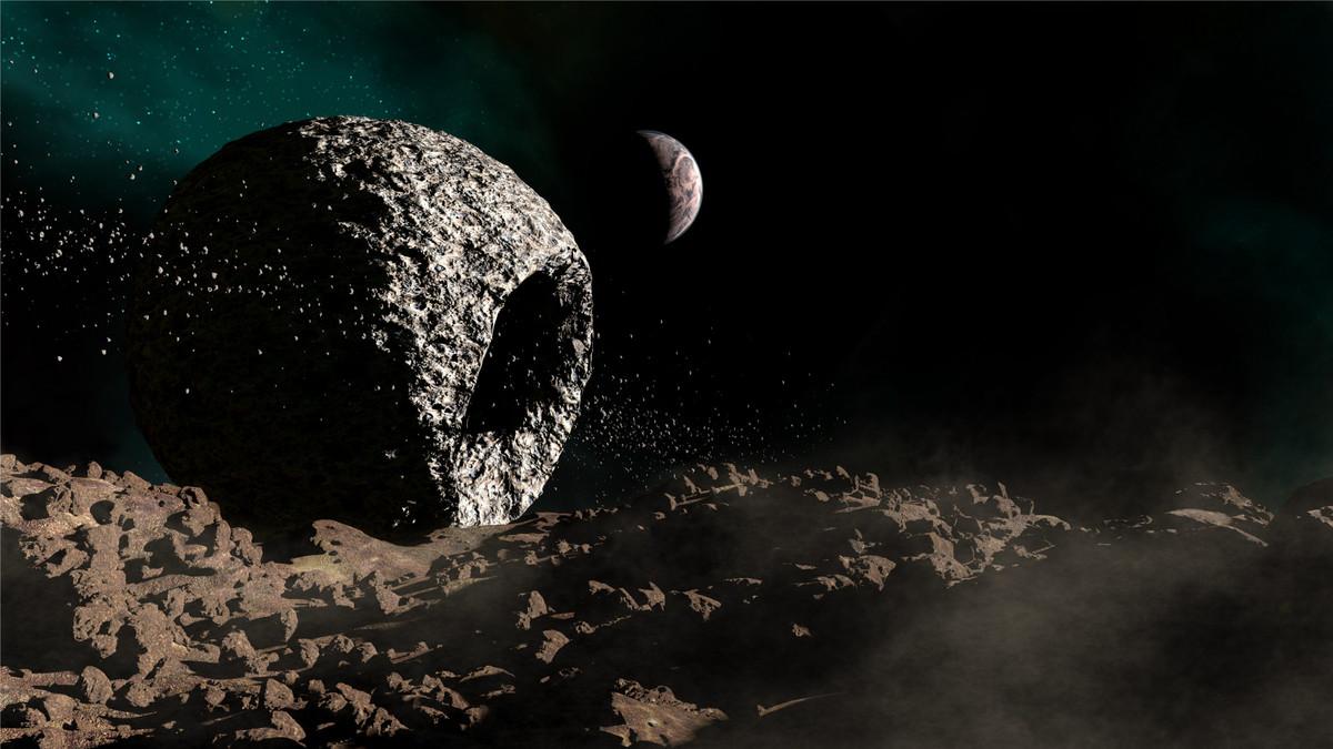 Dead Planet in Asteroid Field