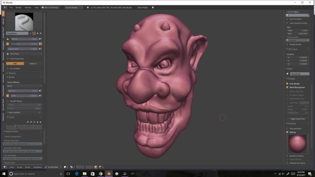 Creepy Bust