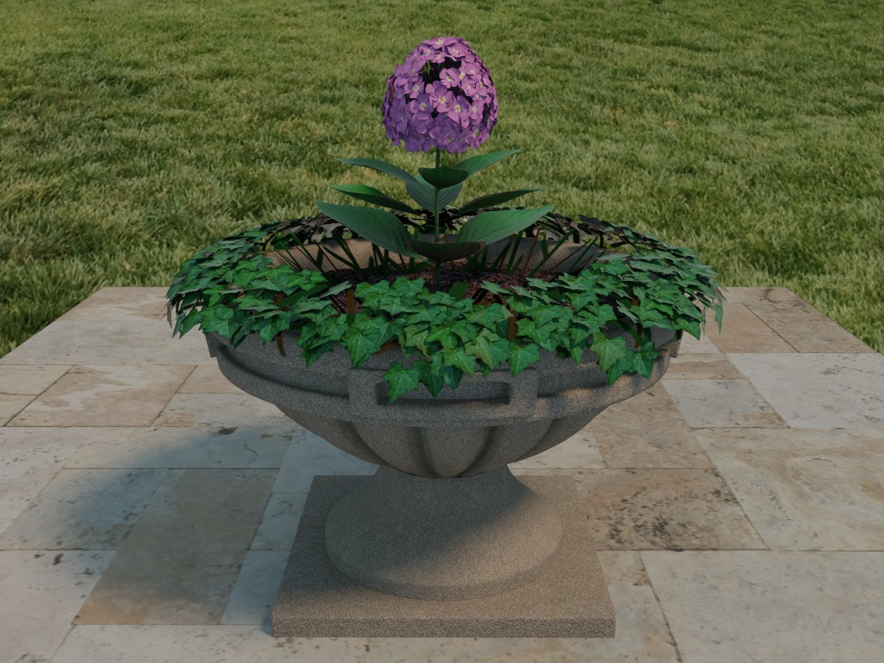 urn + flowers 02