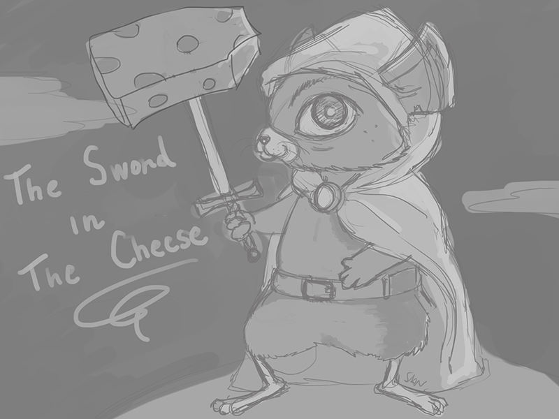 The sword in the cheese