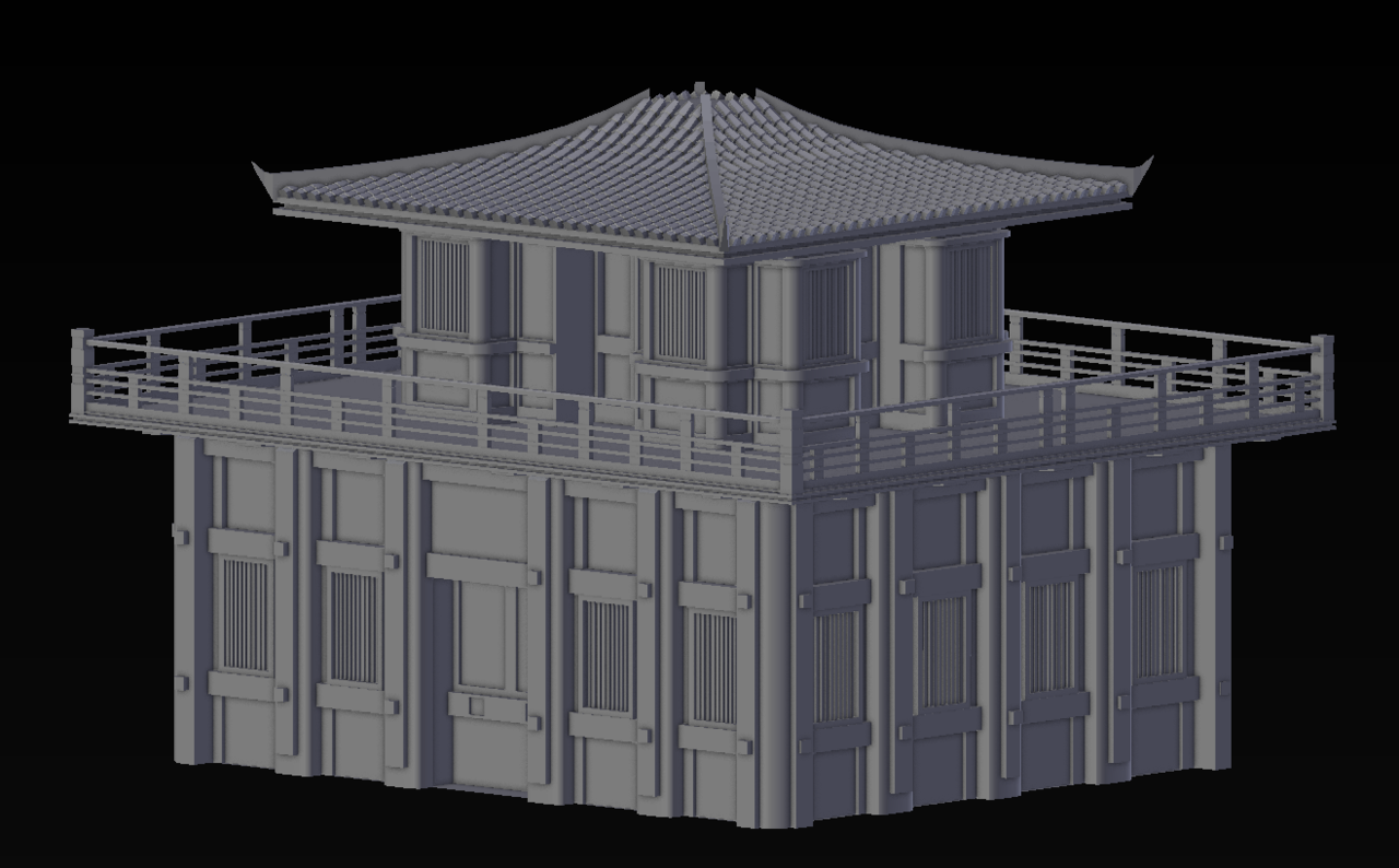 Japanese temple WIP
