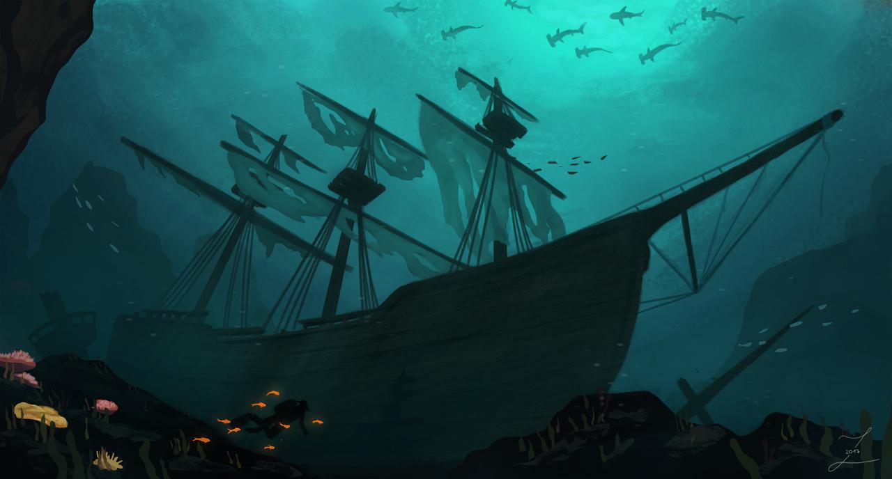 Where ships rest.