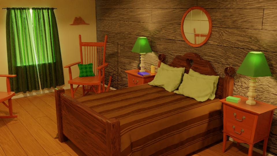 Rustic Bedroom Scene