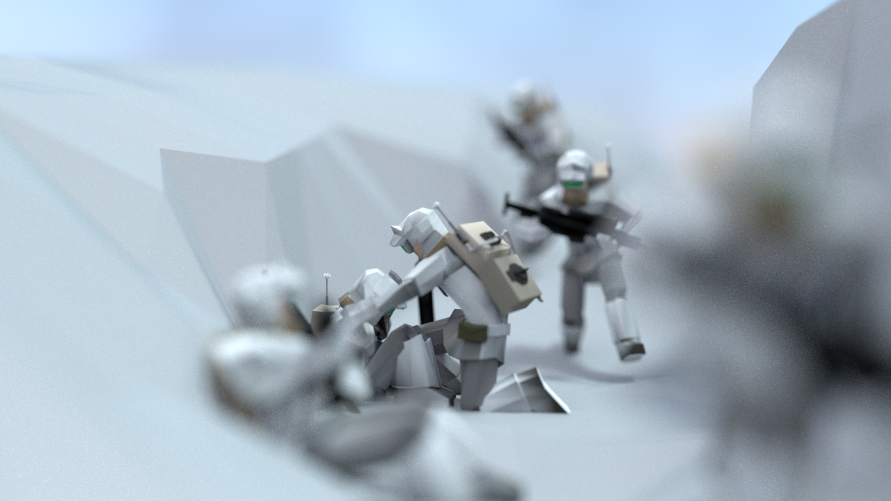 Battle for Hoth - A Low-Poly Diorama