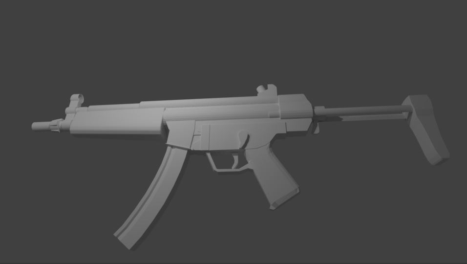 For the FPS weapon course - MP5 A3