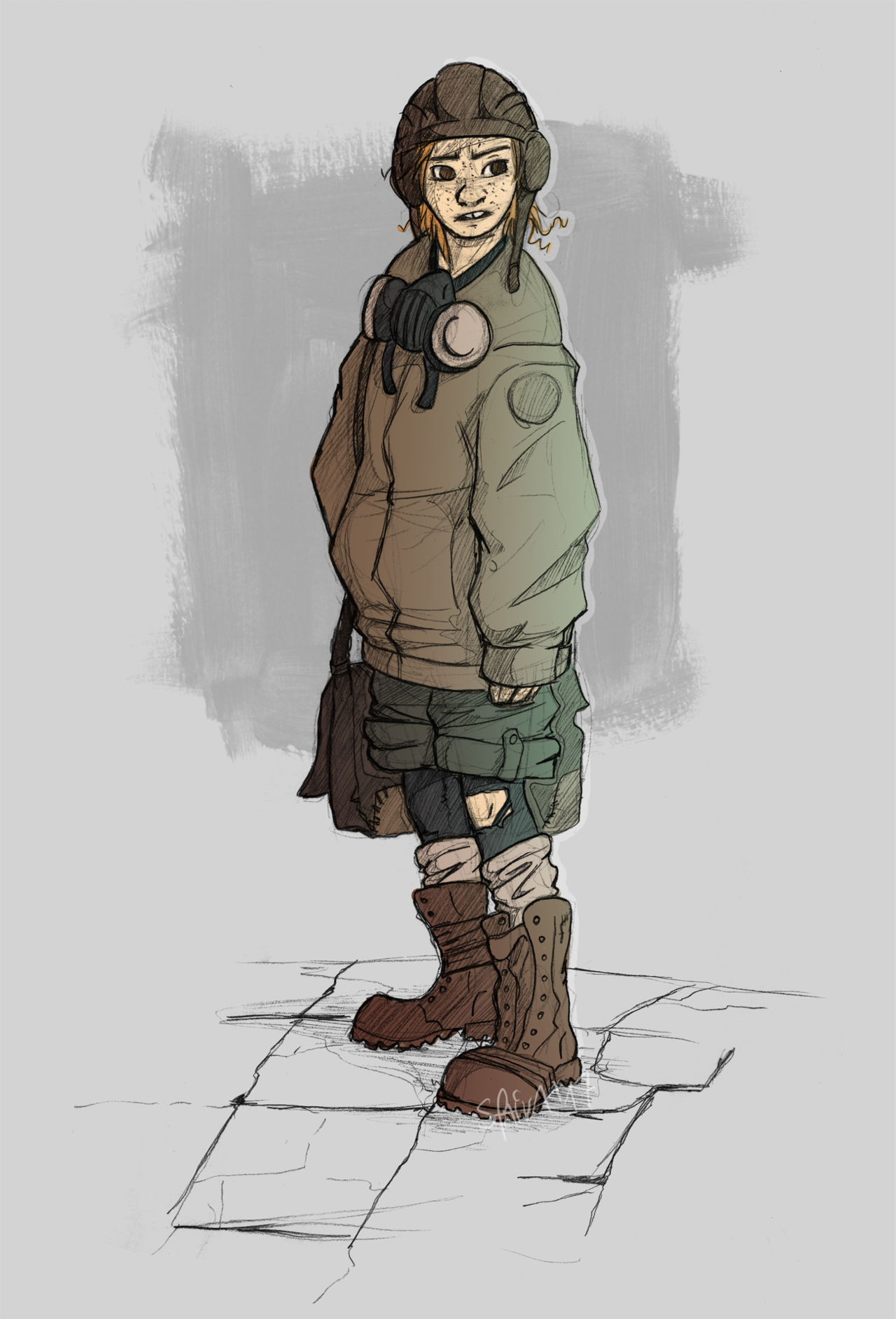 Postapocalyptic character sketches