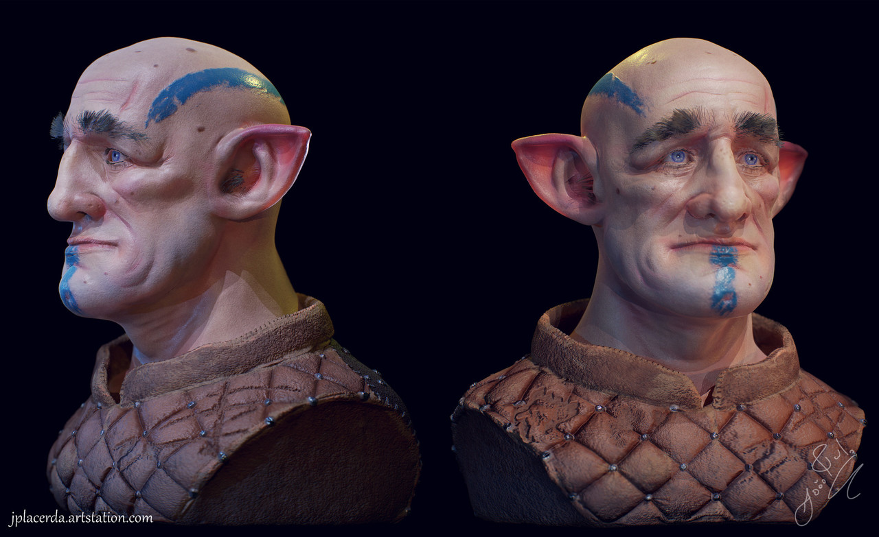 Goblin bust + Time lapse video