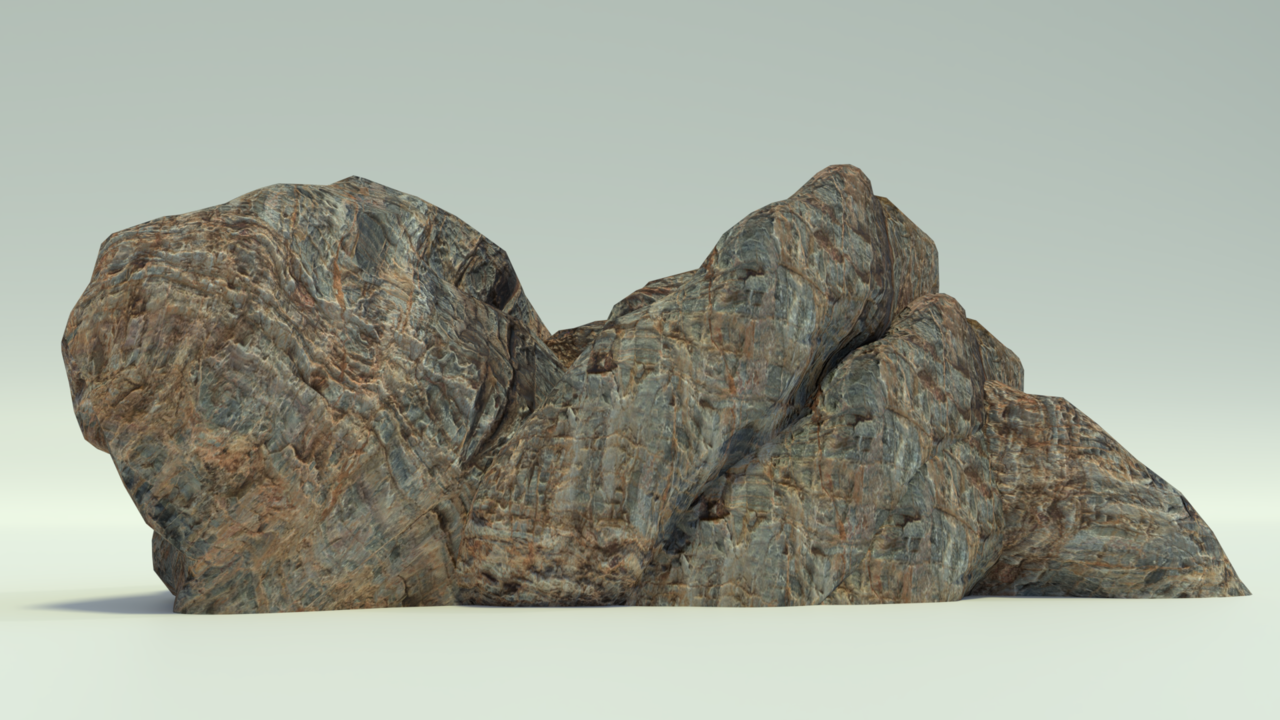 1000 poly rocks for unity