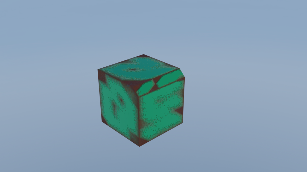 rusted cube in blender 2.79
