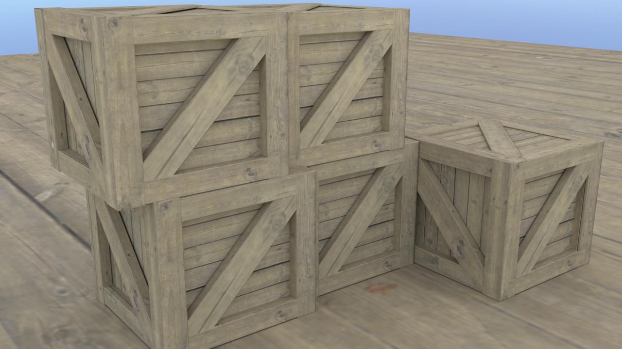 Wooden Boxes In Blender 2.79
