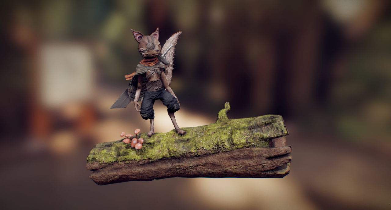 Biomutant universe creature + Timelapse video