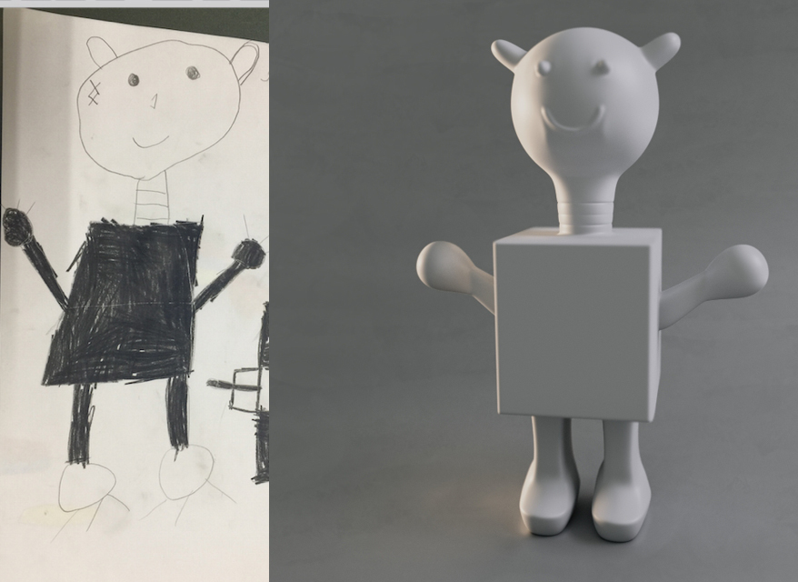 Kids Drawing into 3D models