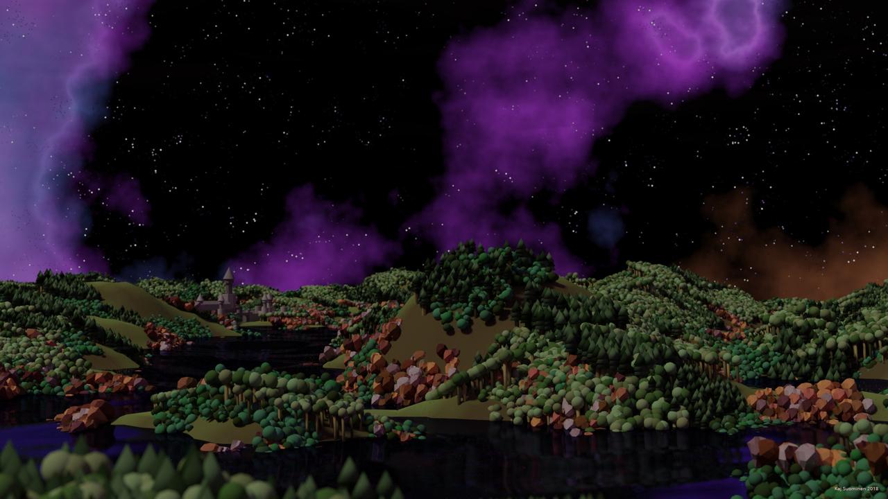 primitive particle sim landscape