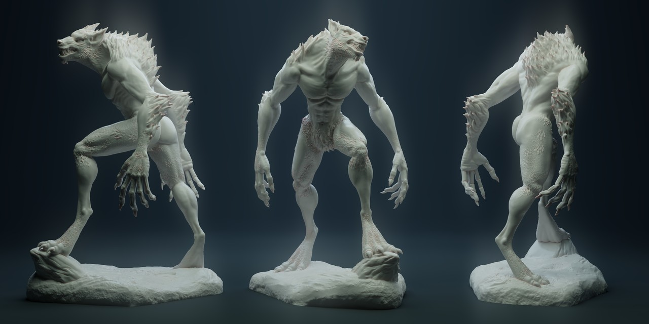 Werewolf Sculpt and Print