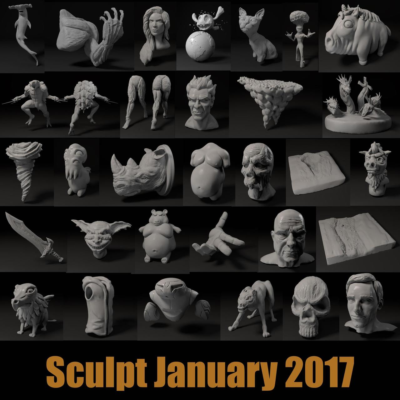 SculptJanuary 2017