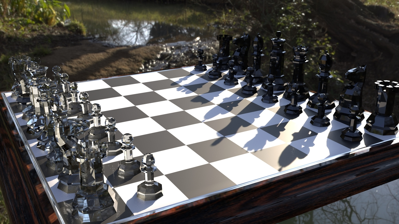 Low Poly Chess Board