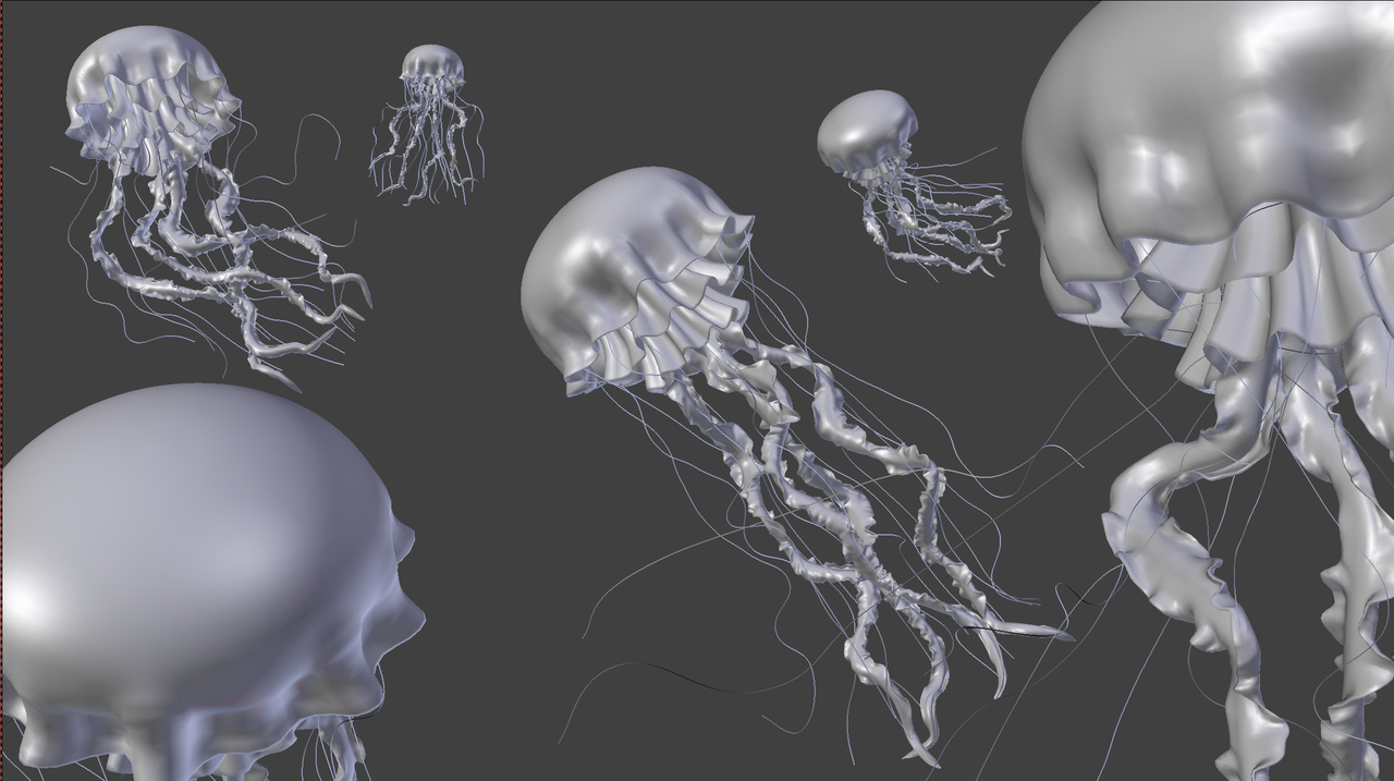 CG JellyFish Scene (from Kent's course)