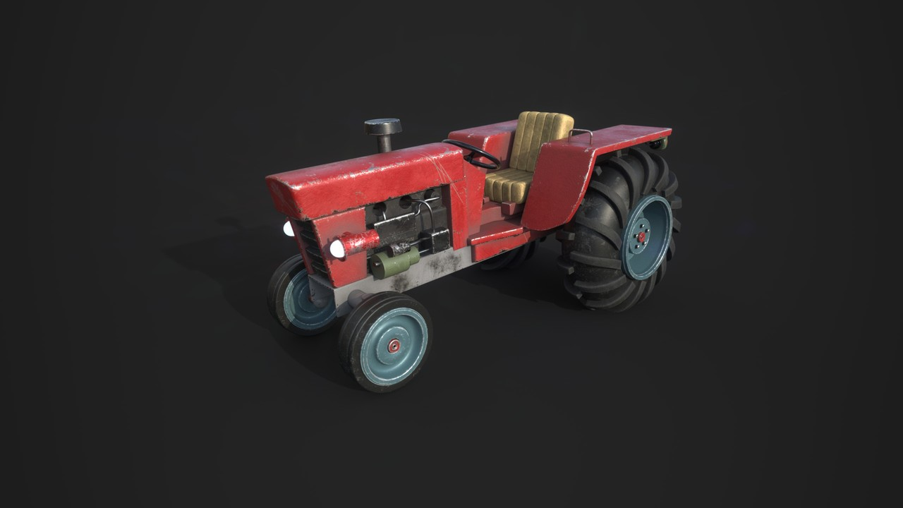 The Red Tractor textured