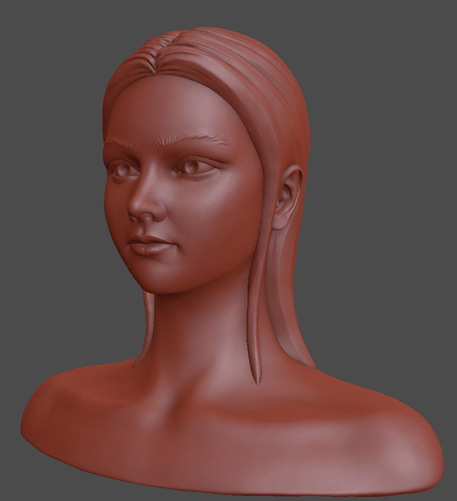 Female bust sculpt