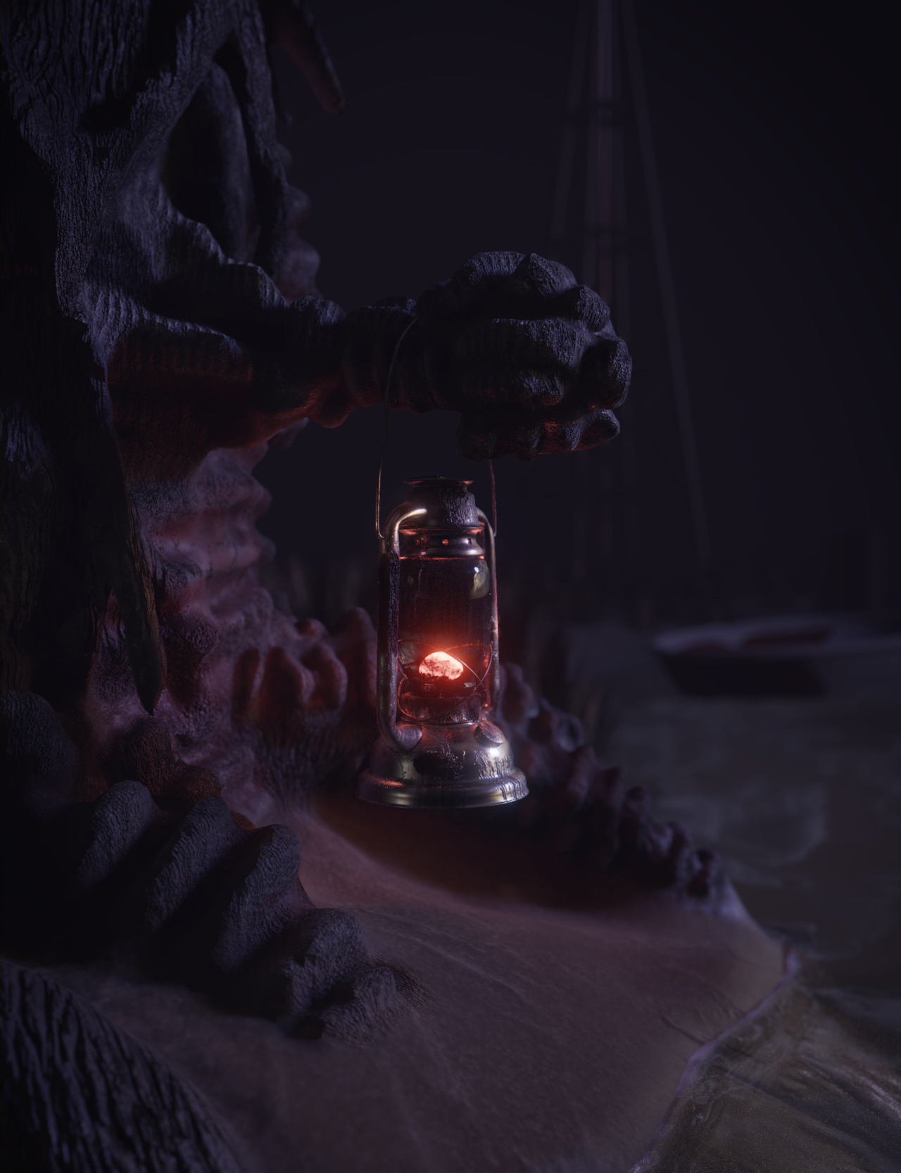 Midnight Lantern Scene