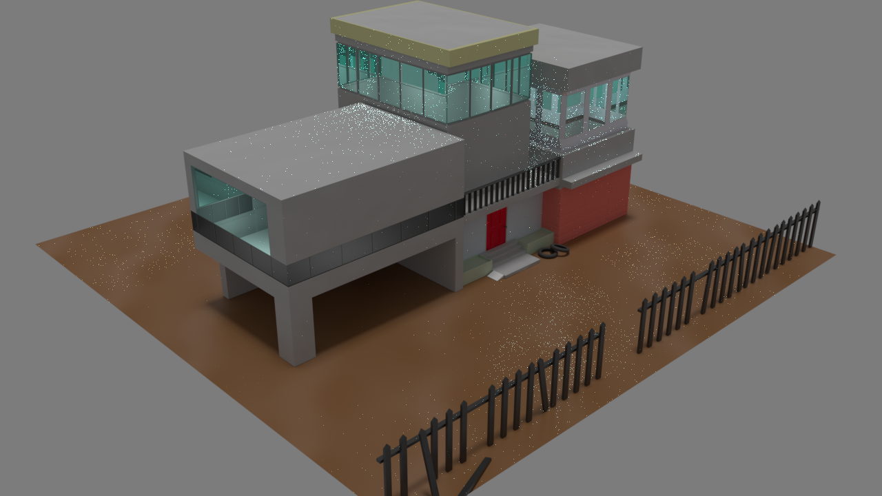 House for Mesh Modeling Course