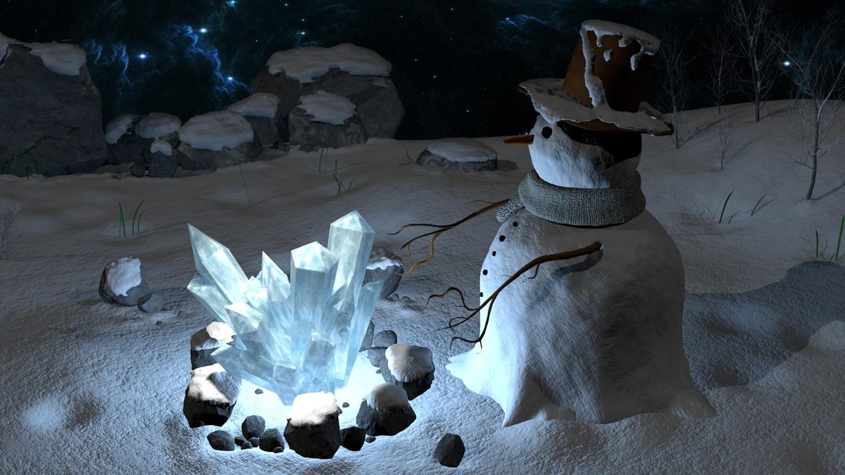 My cold snow man