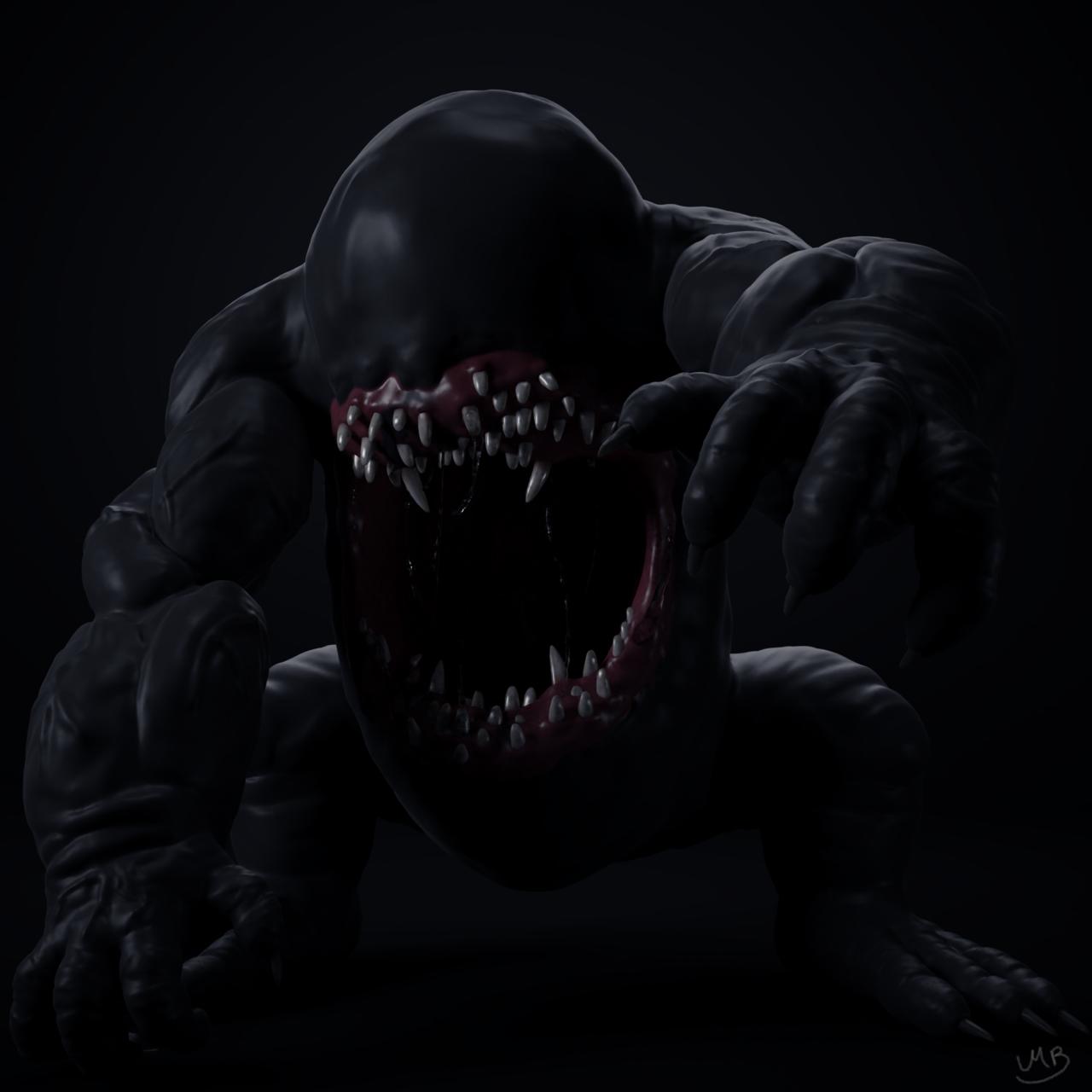 Monster (Sculpt january 2018 day #6 - Monster)