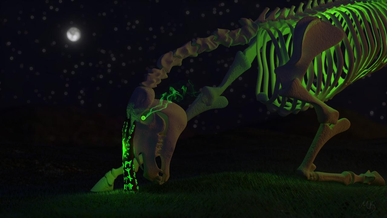 Rider's Awakening (Weekly CG challenge #106 - Living Dead