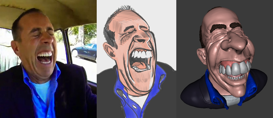 Caricature of Jerry Seinfeld