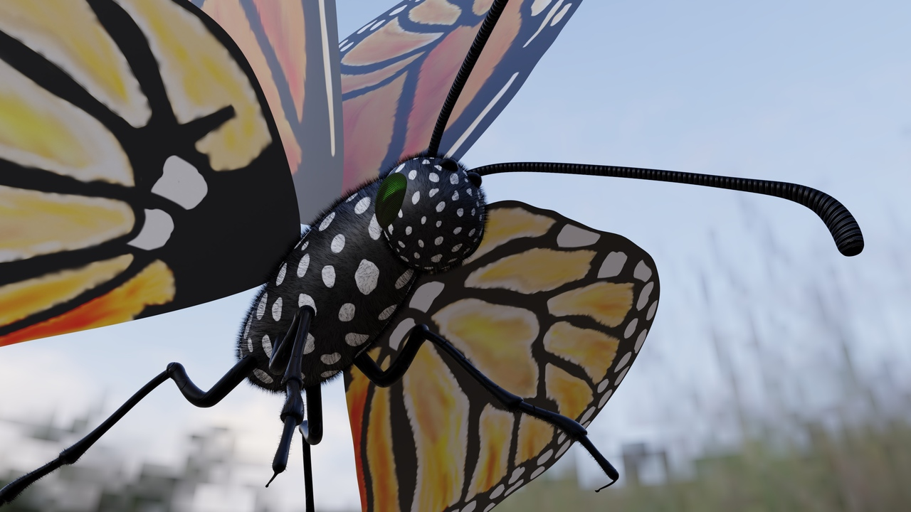 Hand-Painted Monarch Butterfly