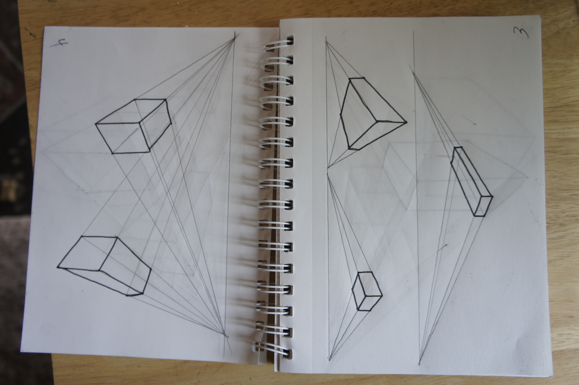 Boxes in 2 Point Perspective