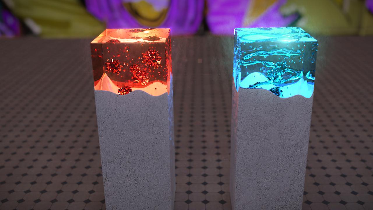 Glow stick - lava lamp