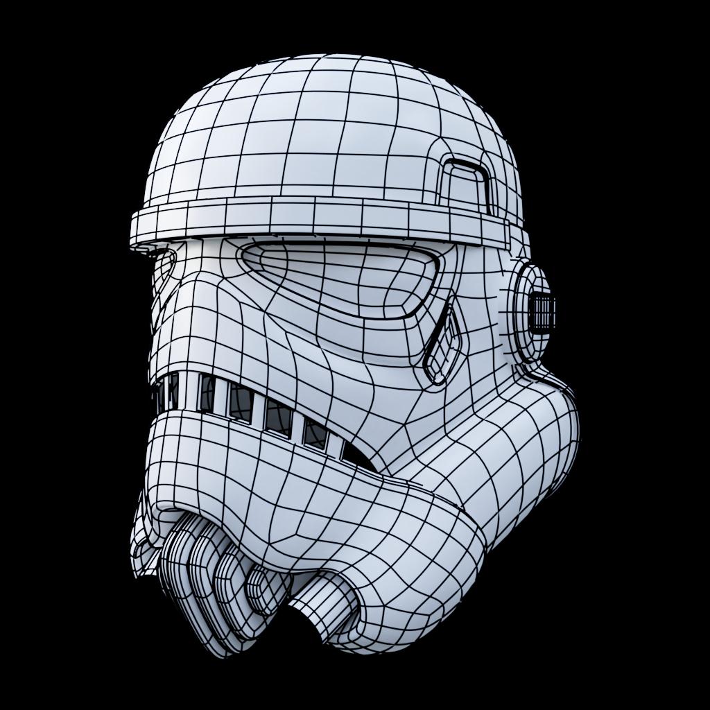 modeling exercise #01 - stormtrooper helmet
