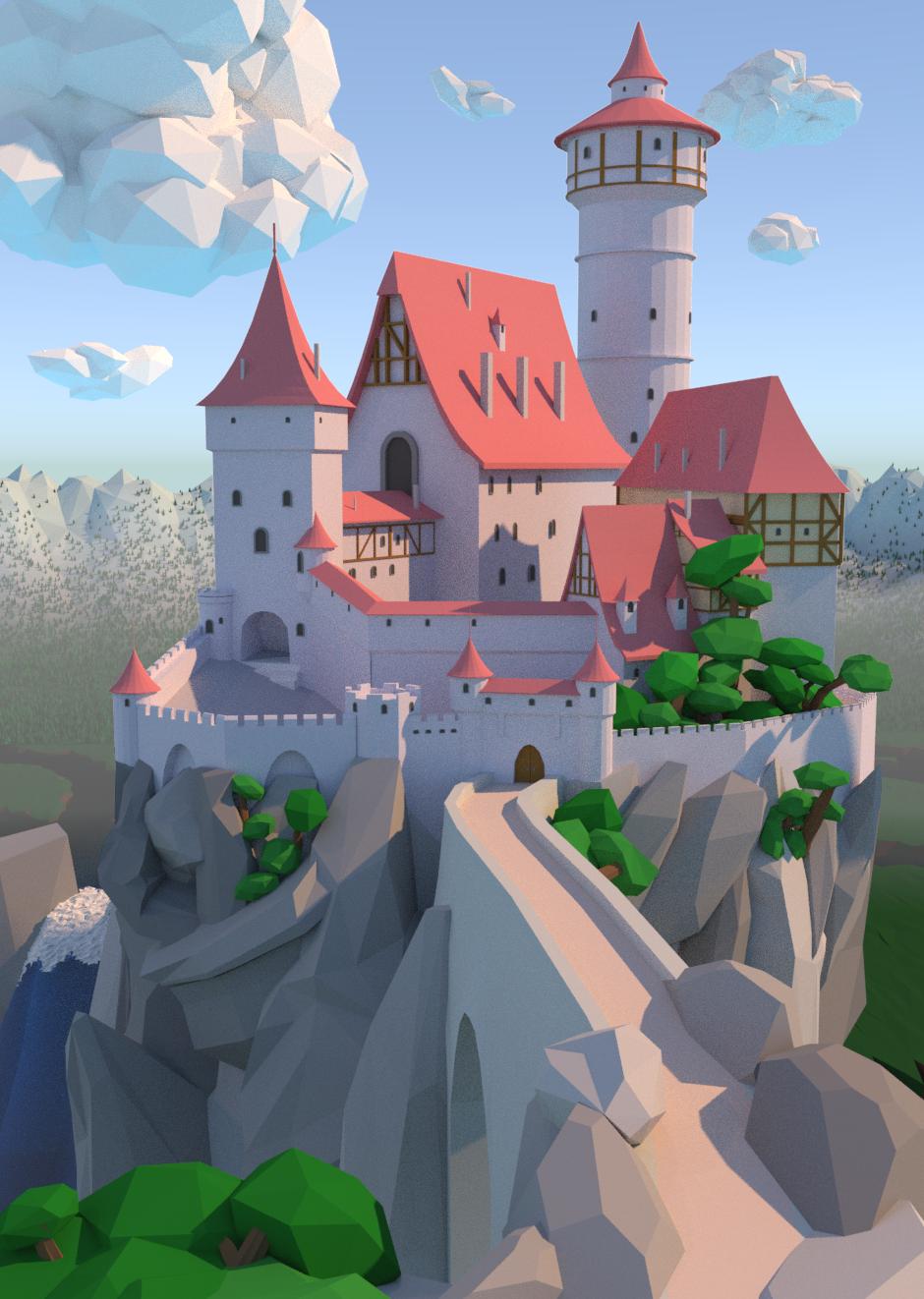 Low-Poly Castle