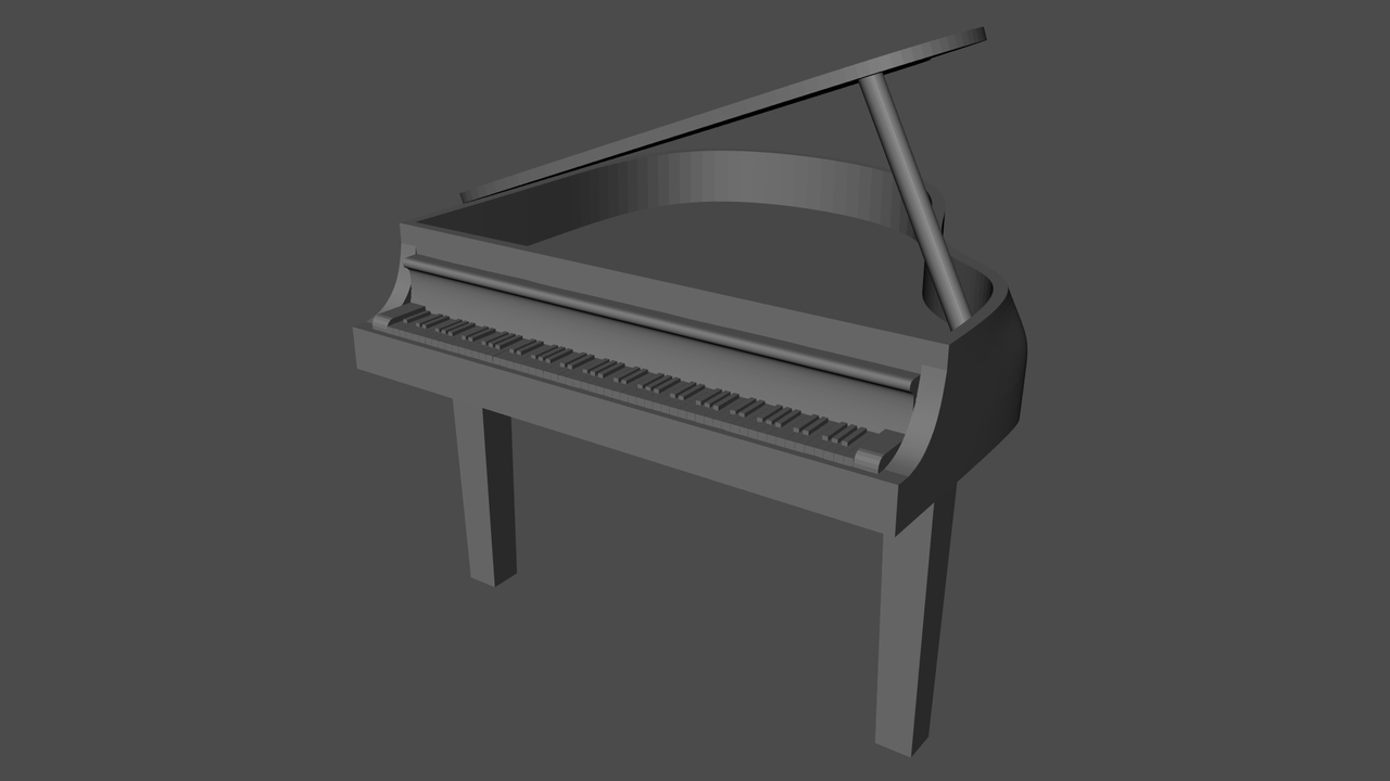 Piano With Lid