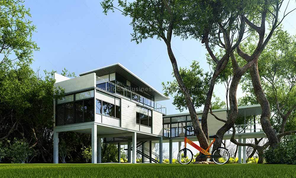 Professional 3D exterior rendering services