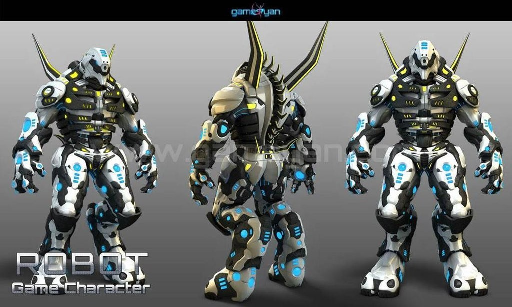 3D Robot Warrior games character Design By Gameyan game outsourcing company - Chicago, USA