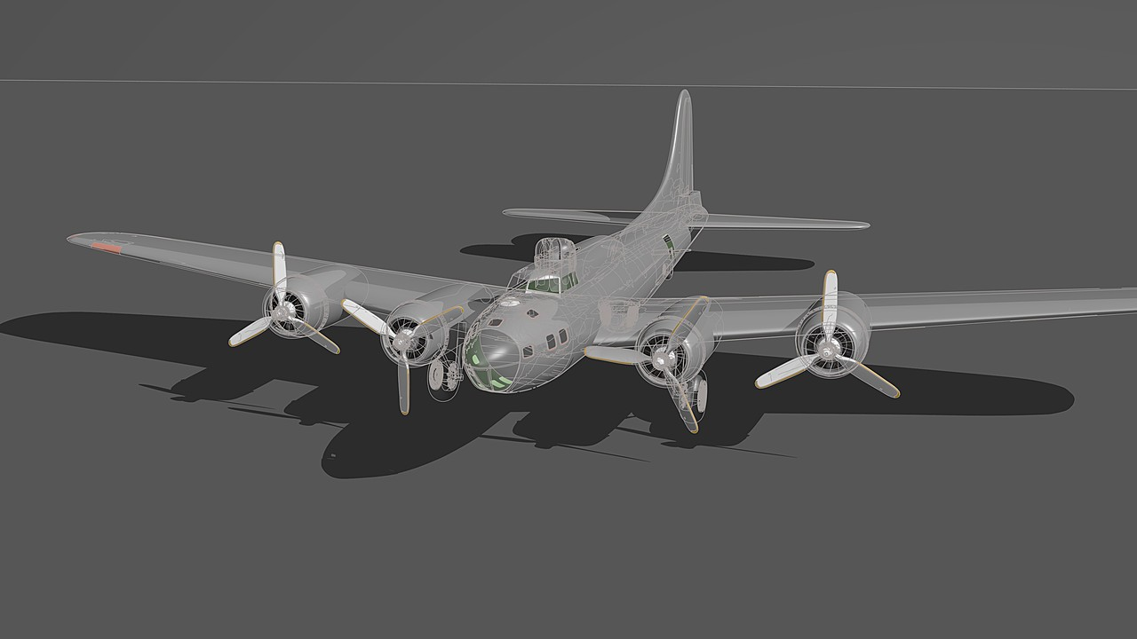 B-17 transparent