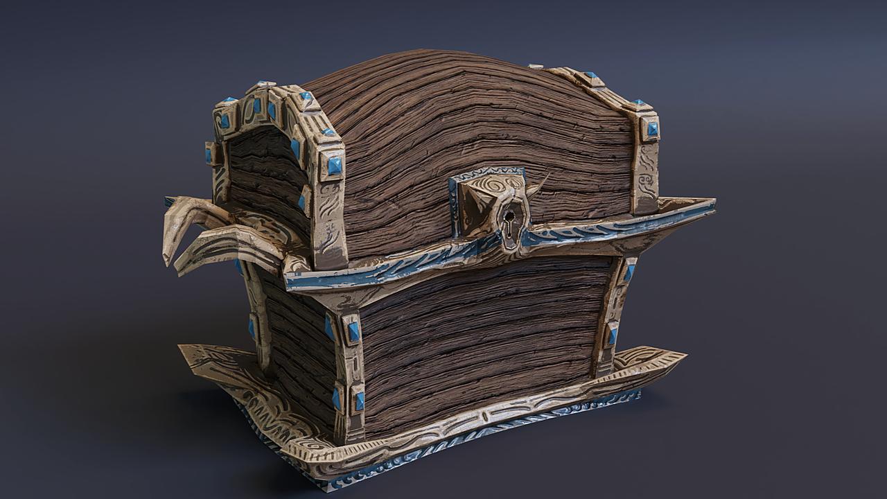Stylized fantasy chest