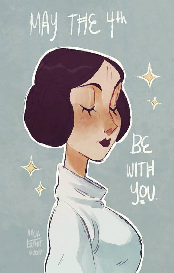 Princess Leia from Starwars fanart