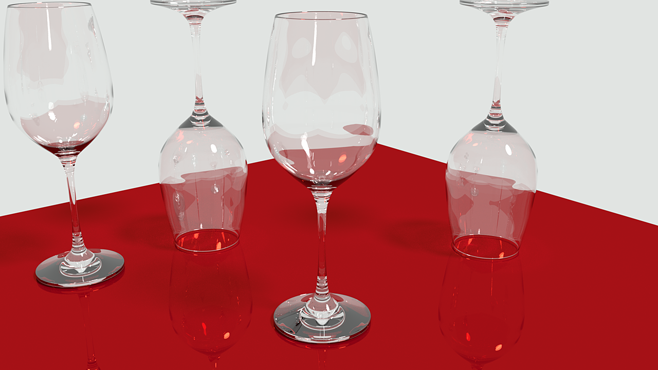 Realistic wine glasses