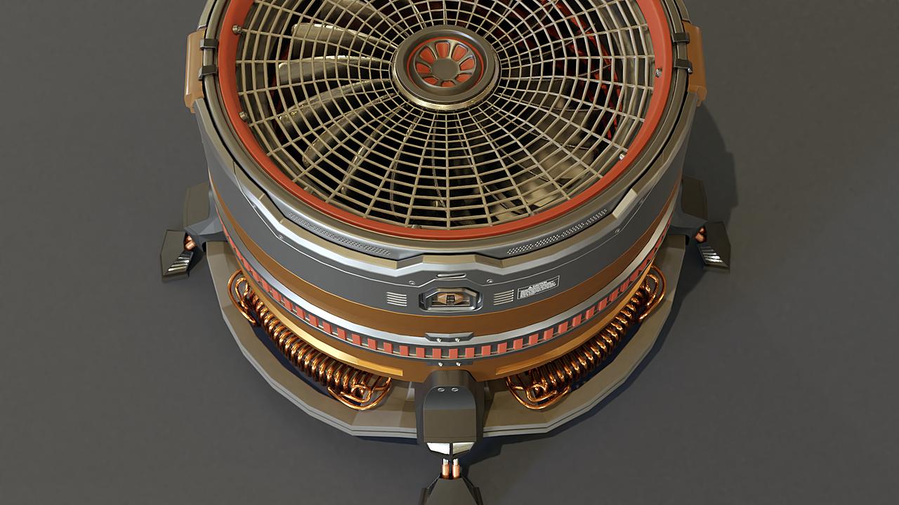Fan in sci-fi style
