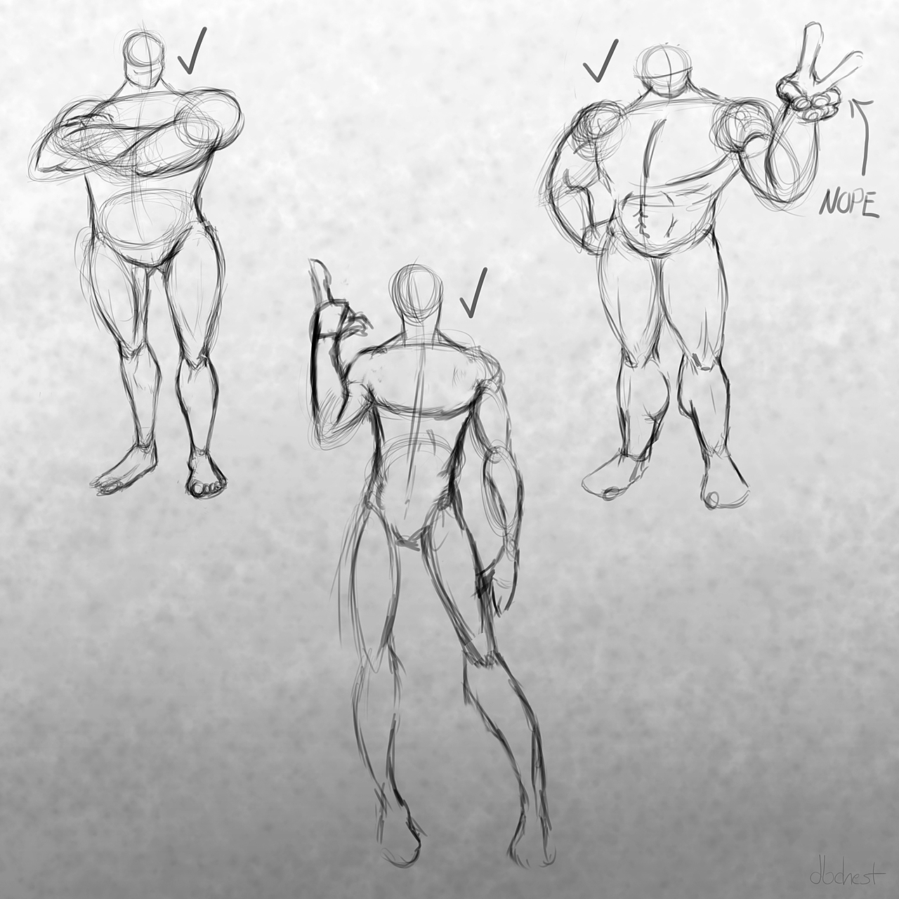 Original Concepts and Pose Studies