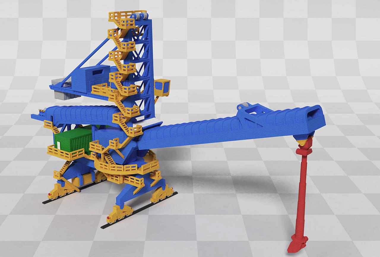 Shiploader for 3D print