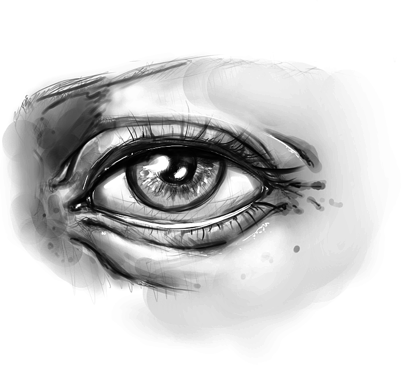 Drawing face features eye